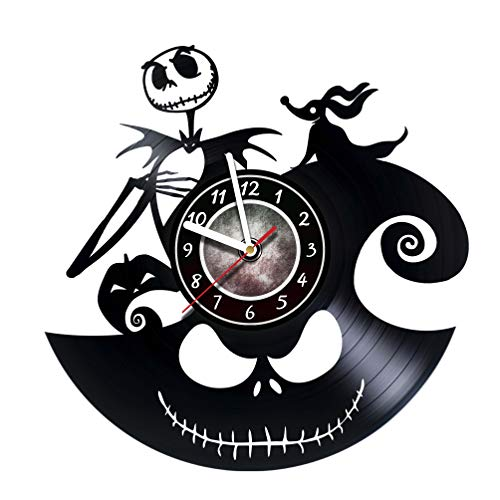 Vinyl Record Wall Clock specially for Fans of Horrors - Get unique kids, living room wall decor - Gift ideas for teens, friends, boyfriend, girlfriend – Dark Nightmares Unique Art Design for $<!--$22.34-->