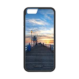 Sexyass Sunset IPhone 6 Case Pier at Sunset Hdr, Cool Sunset, {Black}