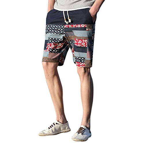 Leegor 2019 Summer Men Relaxed Fit Printed Patchwork Boardshorts Swimming Surfing Holiday Pants Casual Elastic Beach Trunks