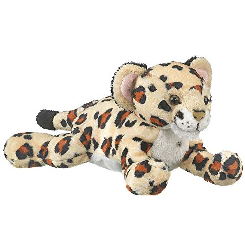 Wildlife Tree 9 Inch Laying Jaguar Cub Stuffed Animals Floppy Zoo Conservation Collection (Jaguars Snuggie)