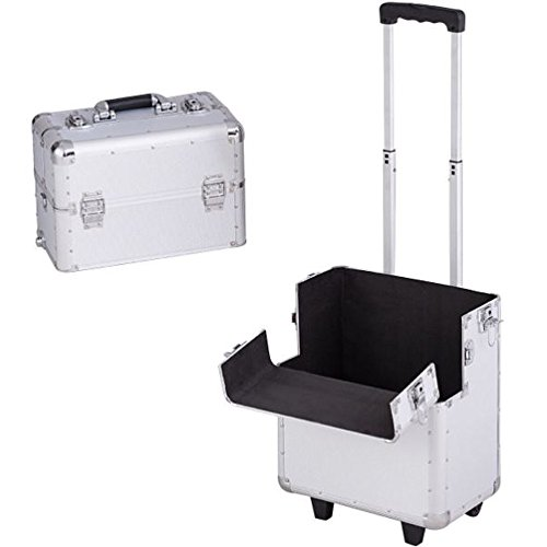 Cheap Makeup Trolley Cart Bag Travel Vanity Large Case Portable Polling with Wheels Storage Traveling Organizer & Ebook by Easy2Find. by STS SUPPLIES LTD