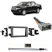 Fits Honda Ridgeline 2009-2014 Double DIN Harness Radio Dash Kit - Gray