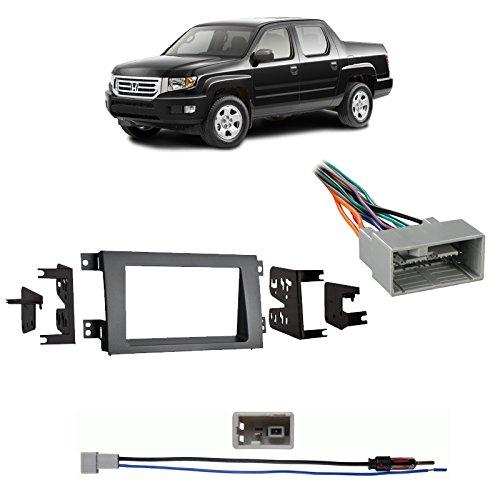 Honda Ridgeline Dash (Fits Honda Ridgeline 2009-2014 Double DIN Harness Radio Dash Kit - Gray)