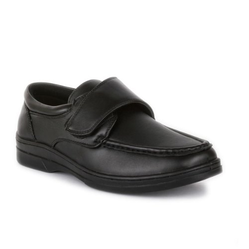 Hobos - Mens Casual Easy Fasten Shoe In Black - Size 11 UK - Black