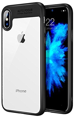 MoKo Étui iPhone X �?Coque de Protection en Cuir PU Full-Couvrage Résistant aux Rayures pour Apple iPhone X / iPhone 10 (support le chargement sans fil) - Noir