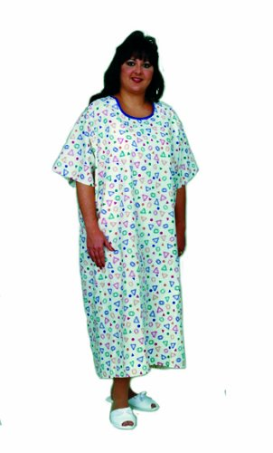 (Essential Medical Supply King and Queen Size Patient Gown - Fits Up to 3 XL )