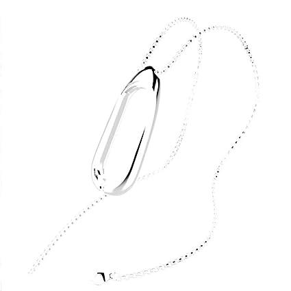 e43a0196b3b2 Xiaomi Mi Band 3 Pulsera de Actividad, Zolimx Collar Colgante de Acero  Inoxidable para Dormir Monitor de Fitness para Xiaomi Mi Banda 3 Pulsera