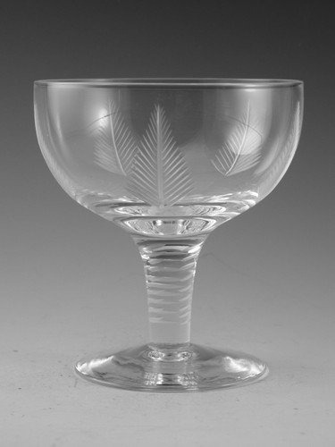 Stuart Crystal WOODCHESTER Champagne Saucer Glass 4