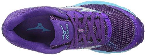 Mizuno Wave Sayonara 3, Zapatillas de Entrenamiento para Mujer Morado (RoyalPurple/Silver/BlueAtol)