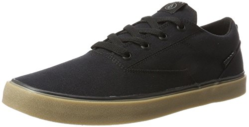 Volcom Mens Draw Lo Fashion Shoe Sneaker Nero Destructo