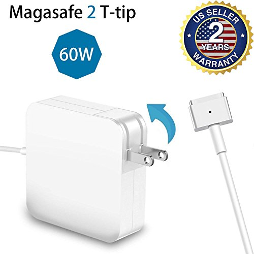 For MacBook Pro Charger 60W Magsafe 2 T-Tip Adapter Charger for MacBook Pro 13-inch After Late 2012 by CulaLuva