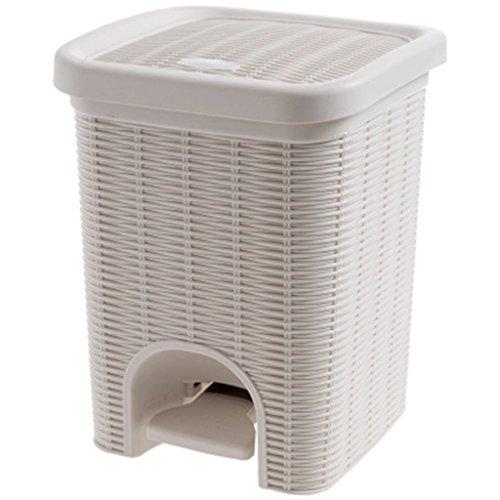 LXJBote de Basura Cubo de Basura de Pedal de Mimbre de imitación, Sala de Estar pequeña Cocina de baño de Cesta de Papel...
