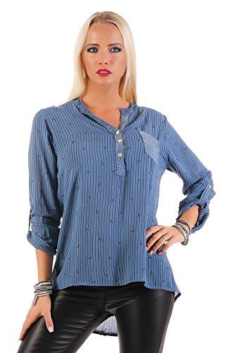 Livan`s - Camisas - Lunares - para mujer azul claro