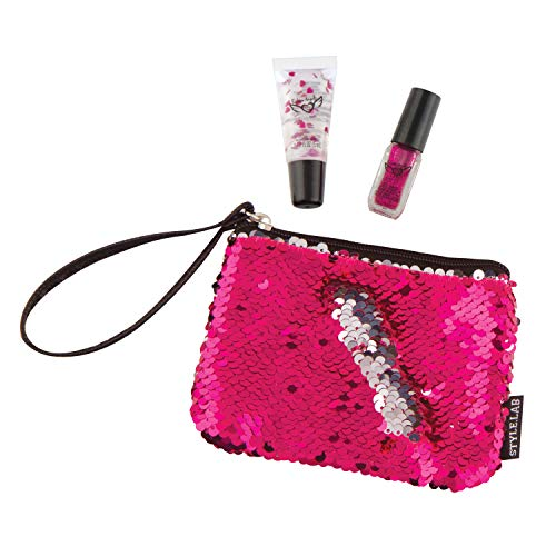 Style.Lab by Fashion Angels Magic Sequin Beauty Wristlet - Pink to Silver