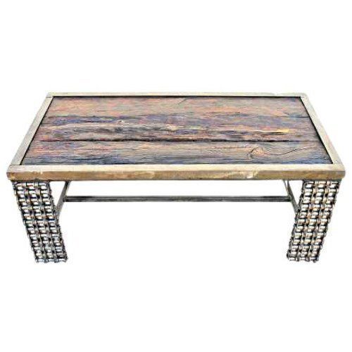 Unique Coffee Tables | Wood Metal Furniture (Living Mission Furniture Lodge Room)