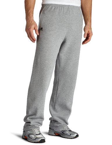 (Russell Athletic Men's Dr-Power Fleece Open Bottom Pocket Pant, Oxford, Large , grey)
