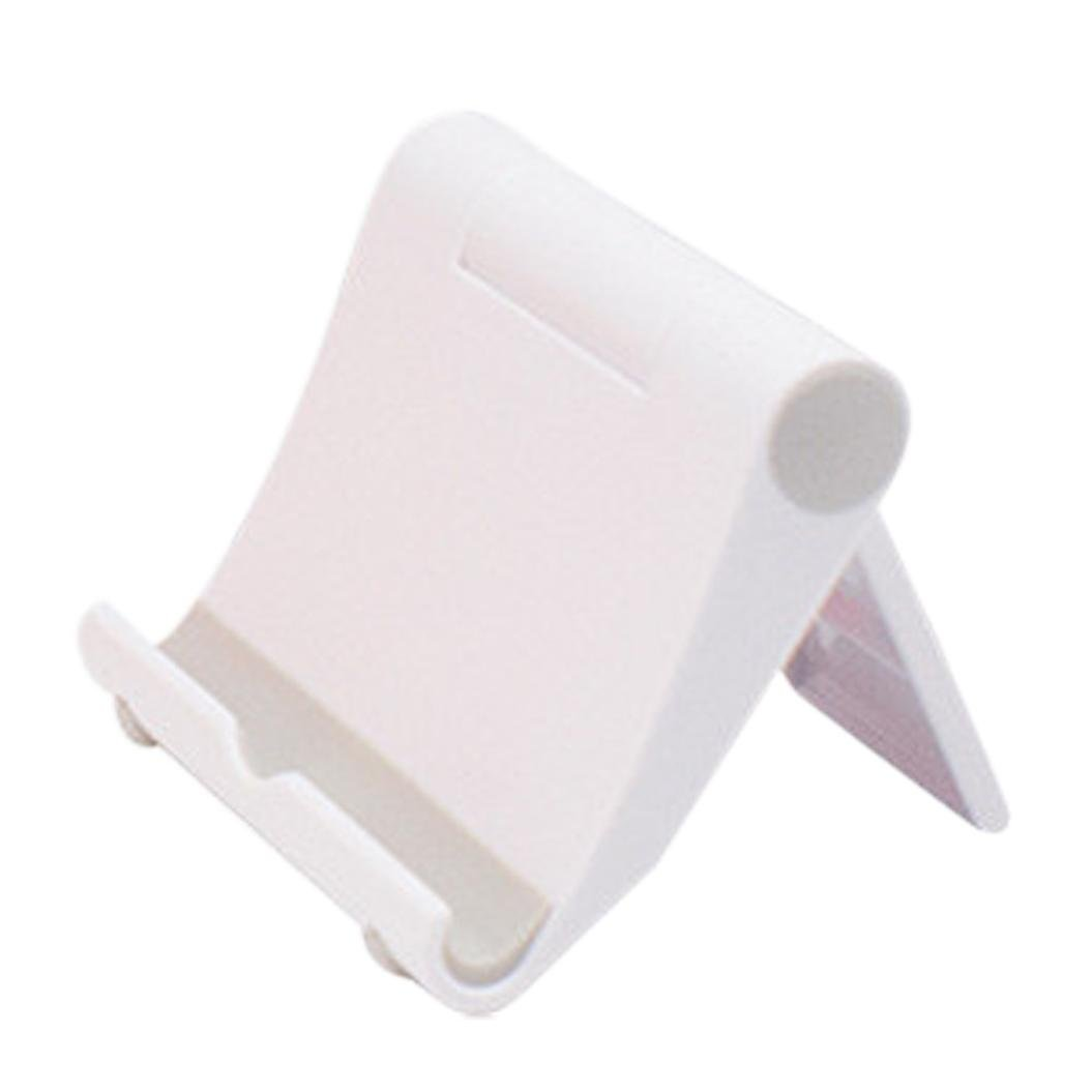 Phone Tablet Holder - Universal Foldable Desktop Holder Stand Cradle Mount For Cell Phone Tablet (White) by FreshZone (Image #2)