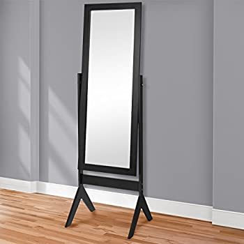 Amazon.com: New Cappuccino / Espresso Standing Cheval Floor Mirror ...