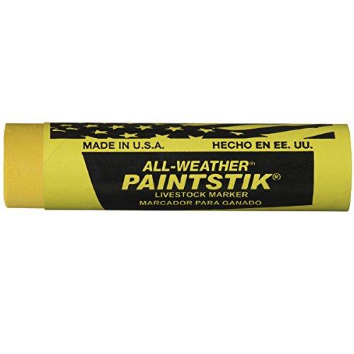 All Weather Paintstik Livestock Marker  1  Diameter  4  Length  Yellow  Pack Of 12