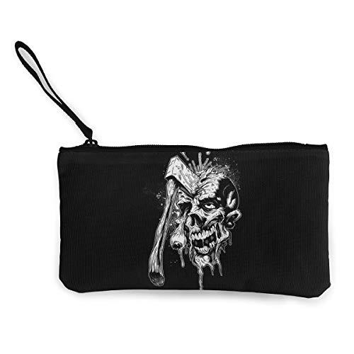 Canvas Coin Purse Skull Zombie Bone Cosmetic Makeup Storage Wallet Clutch Purse Pencil Bag]()