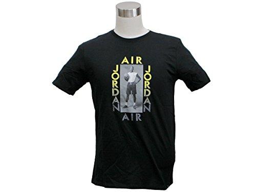 AIR JORDAN PHOTO TEE mens athletic-shirts 905933-010_M - NERO / OPTI GIALLO