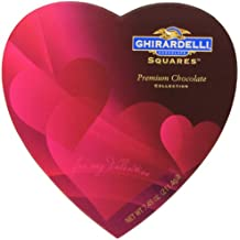 Ghirardelli Valentine's Chocolate Squares, Premium Chocolate Assortment, 7.45-Ounce Heart Box