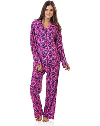 Price comparison product image BHPJ By Bedhead Pajamas Women's Long Sleeve Classic Pajama Set - Purple Pop Pentunia - Medium