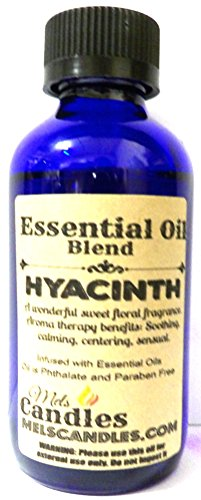Hyacinth 1oz/29.5ml Blue Glass Bottle of Grade A Quality Fragrance Oil, Skin Safe Oil Perfect for Soap and Bath and Body Products
