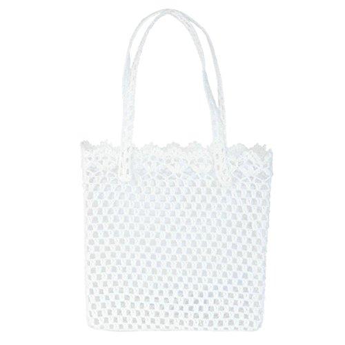 Clayre & Eef CR0148 borsa tessuto sacchetto custodia bianco ca, 30 x 14 x 30 cm