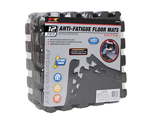 Performance Tool W88988 Gray Square Feet (Mat) 12