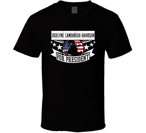 jocelyne Lamoureux-Davidson Ice Hockey USA Athlete For President Winter Olympic Team T Shirt L Black