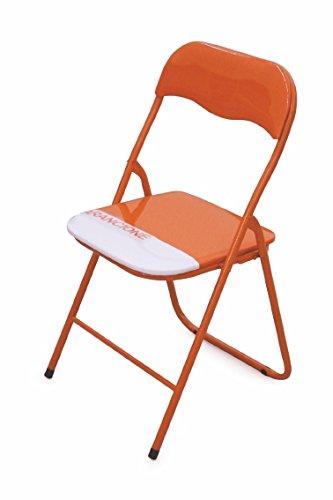 Galileo 2179485 Sedia Pieghevole, Arancione sedia; sedia pieghevole