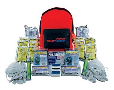 Ready America 70280 Emergency Kit, 2-Person, 3-Day Backpack (People Kit)
