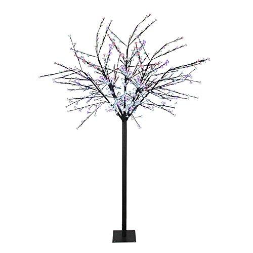8' LED Lighted Commercial Cherry Blossom Flower Tree - Mu...