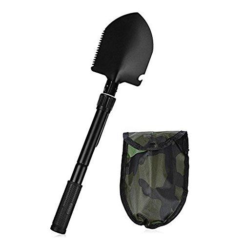 Pusheng Military Portable Folding Shovel Lifesaving Shovel Camping Shovel Outdoor Self-defense by Pusheng