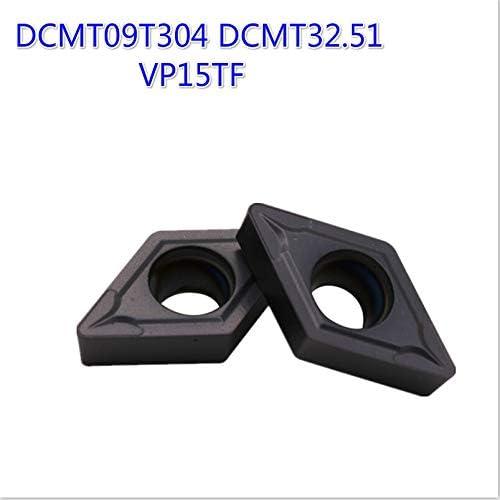 20PCS DCMT09T304 DCMT32.51 VP15TF Karbid-Einsätze Drehwerkzeug-Fräser CNC-Werkzeug Drehen