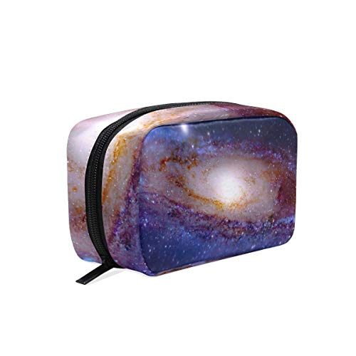 Makeup Organizer Galaxy Space Womens Zip Toiletry Bag Large Case Cosmetic Bags ()