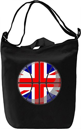 United Kingdom Basketball Borsa Giornaliera Canvas Canvas Day Bag| 100% Premium Cotton Canvas| DTG Printing|