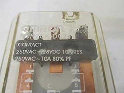 OMRON MJN2CK-DC24 Latching Relay,9 Pins,Square,24VDC