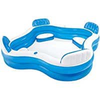 Intex 56475NP - Salón familiar inflable para nadar, 90 x 90 x 26 pulgadas