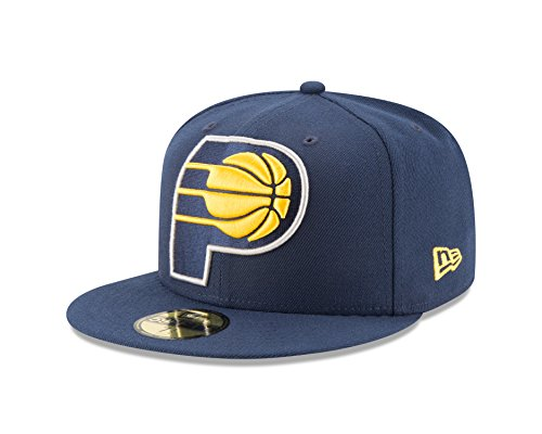 NBA Indiana Pacers Logo Grand Fitted 59Fifty Cap, 7.125, Navy