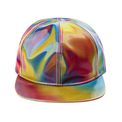 to The Future: Marty McFly Cap Rainbow Colorful Reflective Hat (Snapback Cap)]()