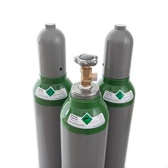 Argon 4,6 10 litros Argon botella de bombona de soldadura MIG para WIG recientemente certificado con ITV actual hasta 2024: Amazon.es: Industria, ...