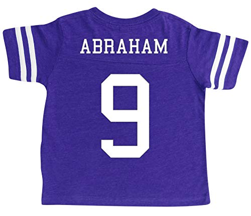 Old Football Jersey - Custom Football Sport Jersey Toddler & Child Personalized with Name and Number (4T, Vintage Purple)