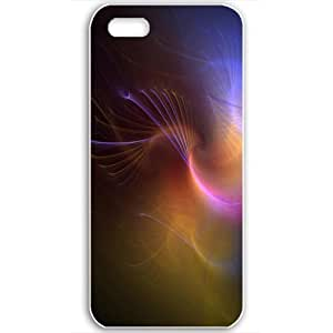 Diy Yourself Apple iPhone 5 5S case covers Customized Gifts Of 3D Graphics colorful swirls 3D Abstract White yElvvUp8SjM