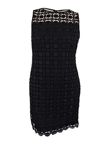 Lauren Ralph Lauren Womens Melia Lace Overlay Sheath Cocktail Dress Black 8 (Lauren Ralph Lace Spring)