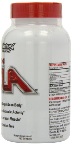 Nutrex Research Labs Lipo 6 CLA 180 Softgels