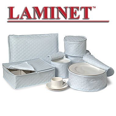 Laminet 6 PC Quilted Dinnerware Storage   Includes 4 Plate Cases, 1 Cup  Case And