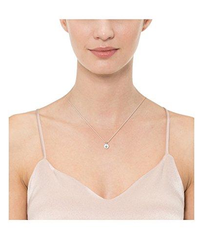 "10k Gold Solitaire Swarovski Zirconia Pendant Necklace (2 cttw), 18"""