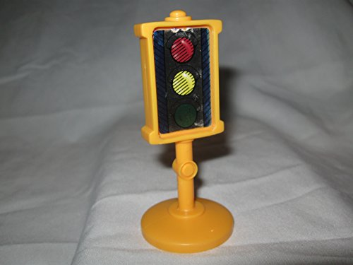 Fisher Price Little People Discovery Village, Race Track, City, Neighborhood, House, Bus, School Play Sets Replacement Piece TRAFFIC SIGN STOP LIGHT - Little People Discovery Village